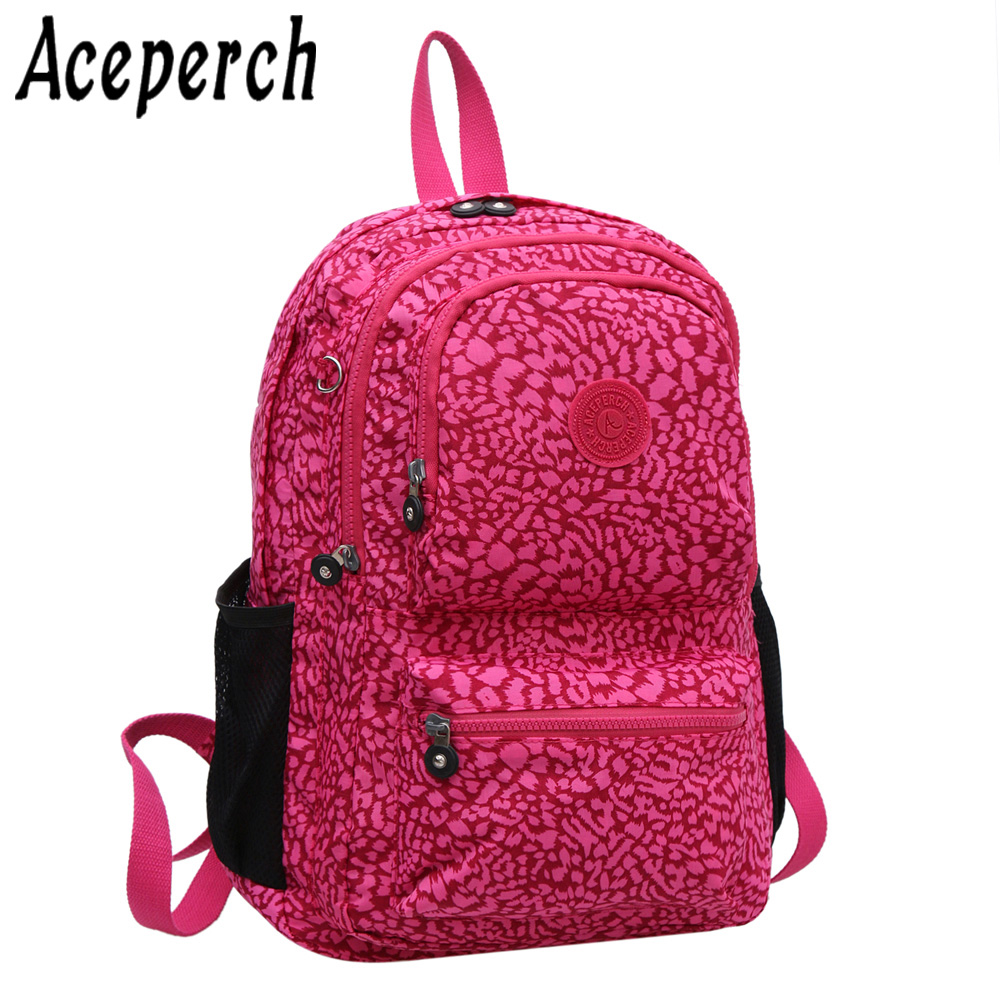 ACEPERCH School Backpack for Teenage Girl Mochila Feminina Women Backpacks Nylon Waterproof Laptop Bagpack Female Sac A Main