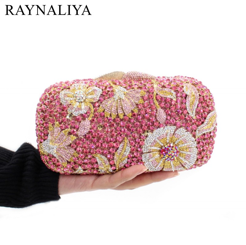 2017 Rushed New Arrival Minaudiere Day Clutches Polyester Diamonds Floral Evening Clutch Bags Women Wedding Smyzh-e0309 new women handmade prom clutch evening bag luxury party bags lady crystal minaudiere diamonds day clutches smyzh e0067