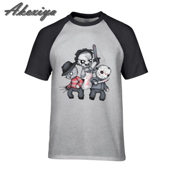 Skull Horror Trifecta Plushie Harajuku Tee Shirt Homme 100% Cotton Short Sleeve fashion 2018 oversized tops t shirt Wholesale image