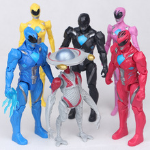 Christmas Gifts Boy Toys Dinosaur Ranger Model Action Figures 6pcs/set Dolls Led Light Dragon