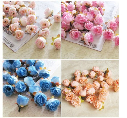 Aliexpress buy 100pcspack solid colors small tea rose heads 100pcspack solid colors small tea rose heads wholesale cream flower buds artificial silk flowers mightylinksfo
