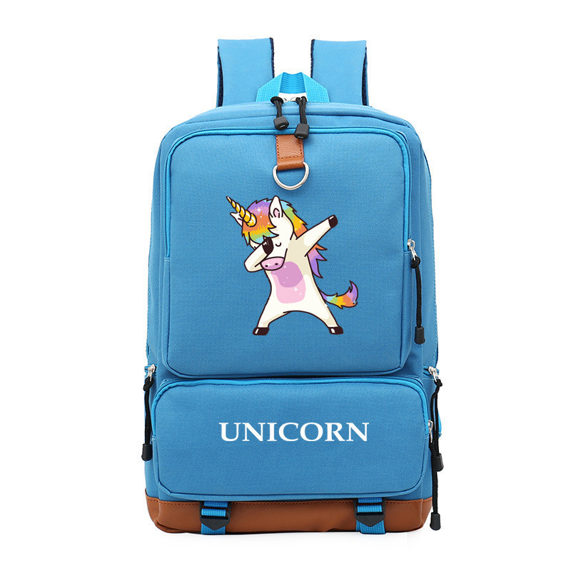 bf9037475243 2018 Rainbow Unicorn Printing Backpack Kawaii Unicorn Women Backpack Canvas  School Bags for Teenage Girls Laptop