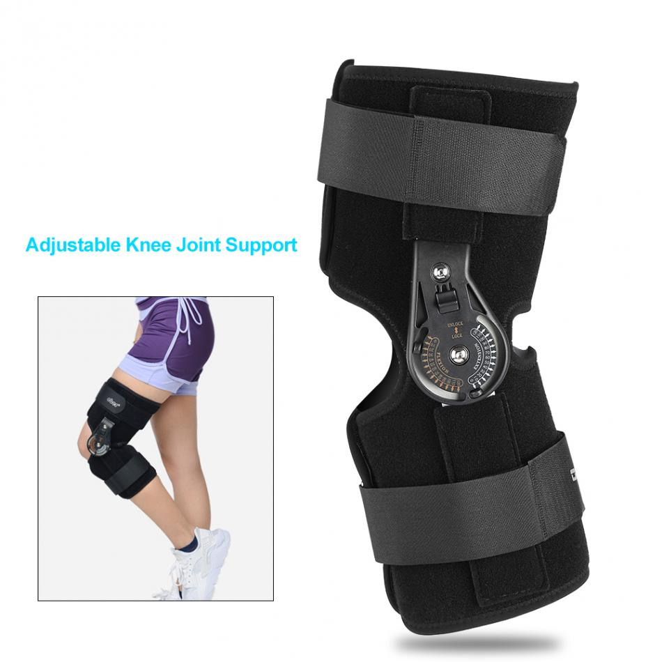 Oper Adjustable Medical Hinged Knee Brace Knee Joint Support Orthosis Ligament Sport Injury Splint Knee Patella Fracture Pads