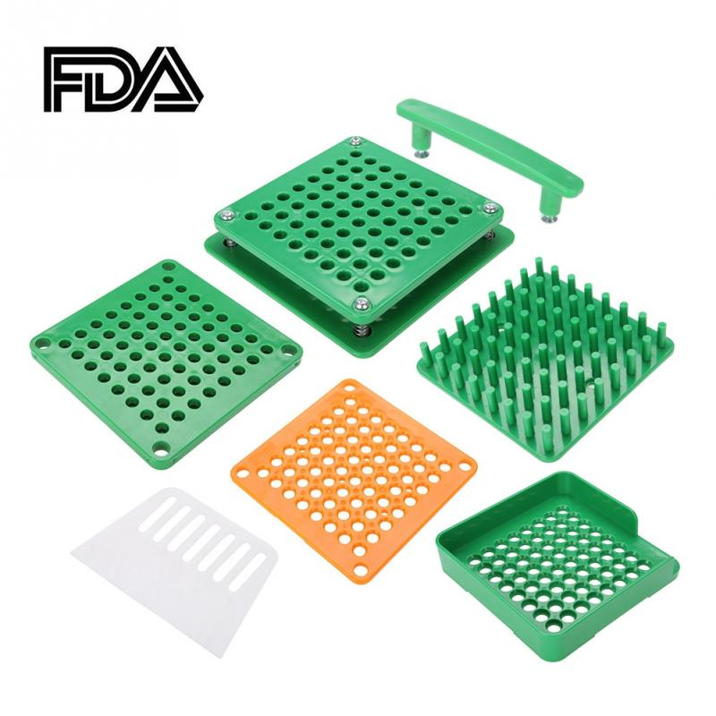 New 64 Holes Empty Capsule Filler Powder Spreader Plates Capsules Filling Tool 0 Chinese Edition
