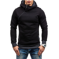 Fashion Brand Hoodies Men Casual Sportswear Man Hoody Zipper Long Sleeved Sweatshirt Men Five Colors Slim