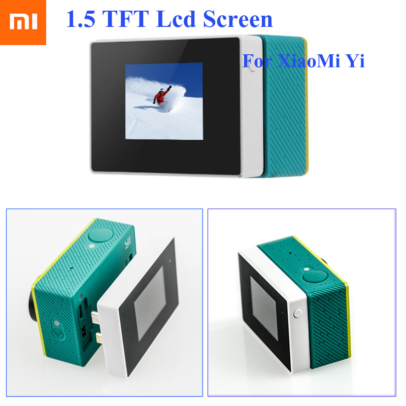 For Xaiomi Yi lcd Screen 1.5 Color TFT Extend Screen For Xiaomi Yi LCD Display monitor Xiaoyi Action Sport Camera Accessories image