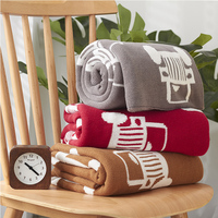 Cute Baby Blankets Infant Toddler Car Soft Warm Knitted Swaddle Kids Bath Towel Lovely Newborn Baby Bedding Props