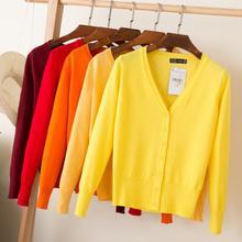 Queechalle, 28 цветов, вязаные кардиганы, весна-осень, кардиган, женские повседневные топы с длинным рукавом, v-образный вырез, Однотонный женский свитер, пальто
