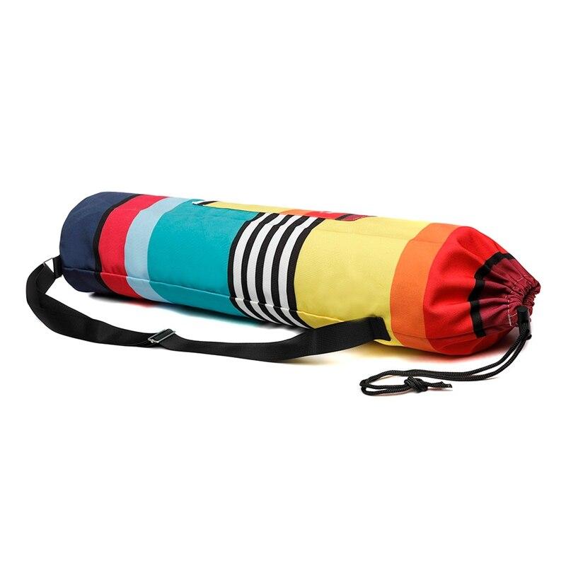 Printed Zipper Drawstring Single Shoulder Bag Yoga Crossbody Bag With Straps Carrier Organization Tool Yoga Accessories
