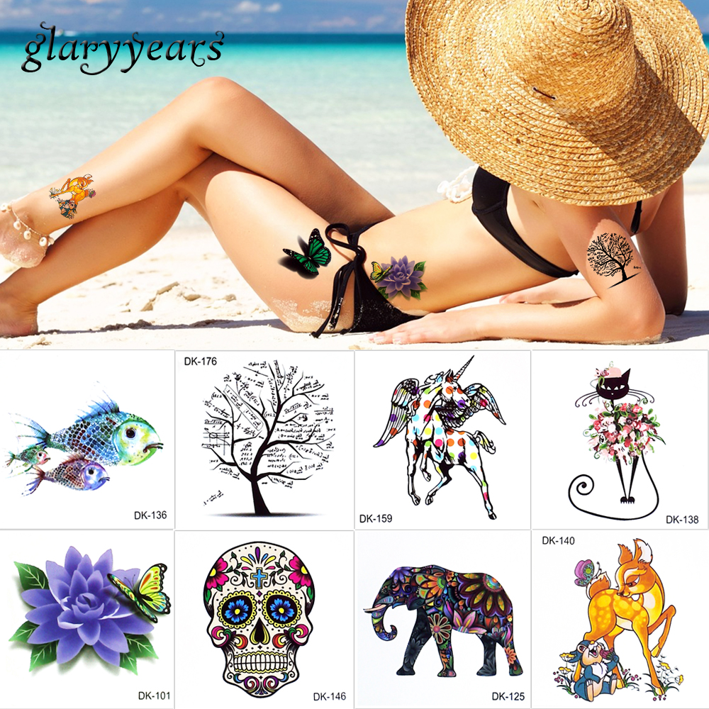 glaryyears 10 db / tétel ideiglenes tattoo matrica 6 * 6cm szépség - Tetoválás és testmûvészet