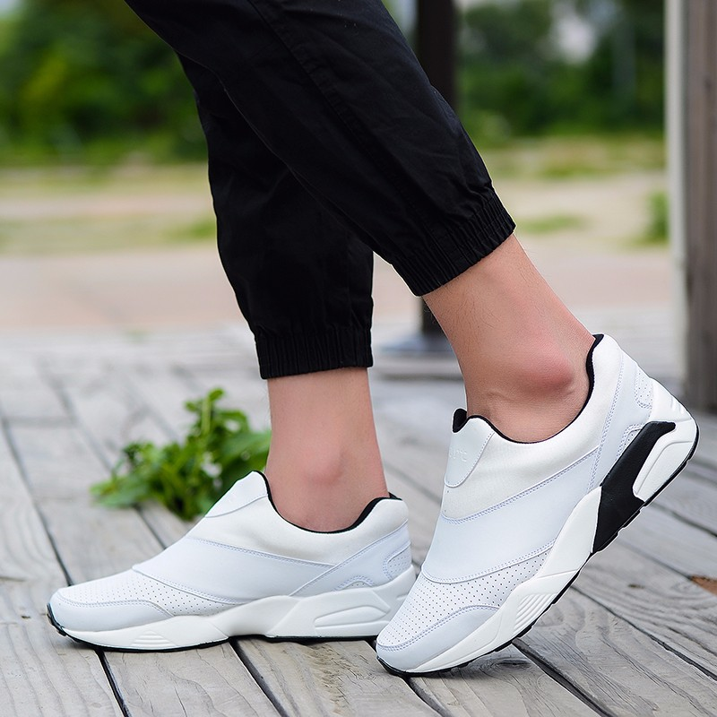 Sport Men Casual Shoes 2016 Fashion PU Leather Flat Leisure Men\'s Shoes Summer Breathable Low Top Shoes Slip On Trainers YD78 (25)