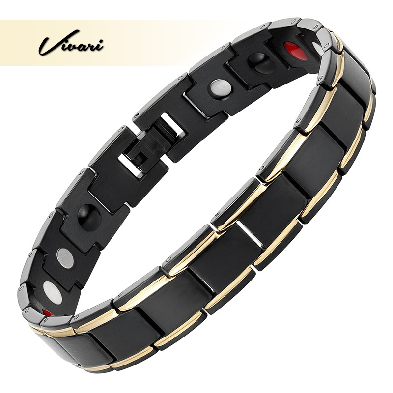 Vivari New Trendy Health Black Bracelet For Men Magnetic Stainless Steel Fashion Bracelets Fashion Jewelry Wristband Bangle Men цена