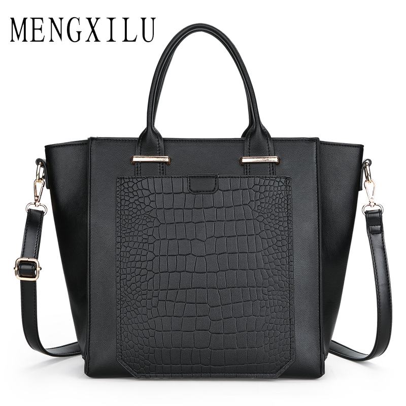 MENGXILU Trapeze Women Bag Vintage Luxury Stone Bag Women Handbag Pu Leather Tote Bolsos Mujer Ladies Shoulder Bags Famous Brand цена