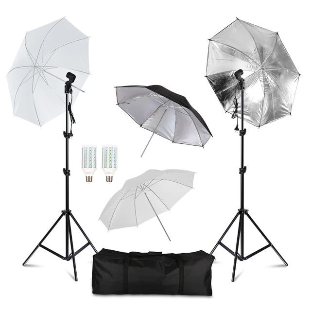 מקצועי צילום תאורת ציוד ערכת עם Softbox רכה רקע stand תפאורות אור נורות תמונה סטודיו