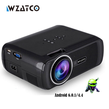 WZATCO CTL80 1800lu Mini Portátil full HD 1080 P LED TV Proyector 3D Android 6.0 Wifi Smart Home Theater Beamer proyector everyco