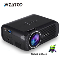 Wzatco CTL80 1800lu портативный мини Full HD 1080 P Телевизор LED 3D проектор Android 6.0 WiFi Smart домашнего кинотеатра проектор proyector everyco