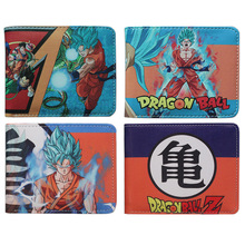 Japan anime Dragon Ball Z Wallet Young Men Women Students Cartoon Fashion Short Wallets coin short Purse 18 style