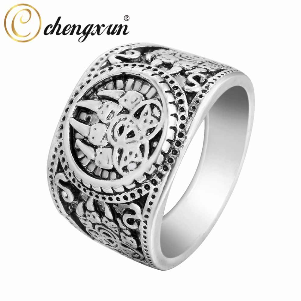 CHENGXUN Top Quality Bear Paw Slavic Ring Viking Jewelry Soldier Military Russian Signet Ring Personality Punk