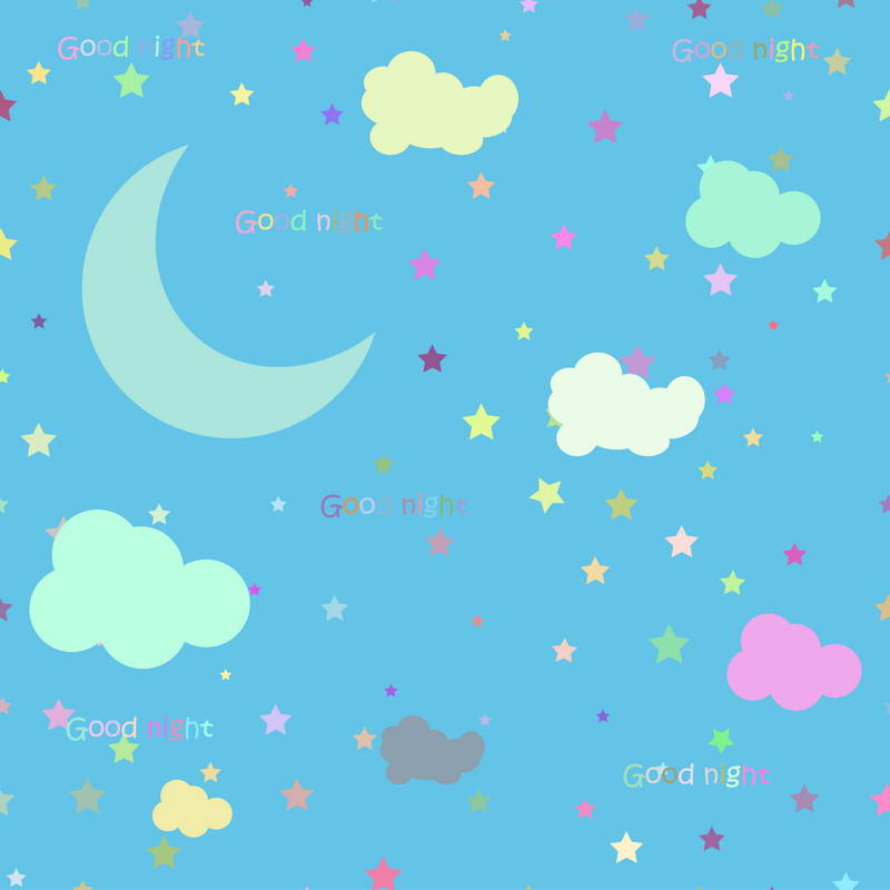 Cartoon colorful clouds star crescent moon blue Backgrounds Vinyl cloth High quality Computer print wall photo backdrop