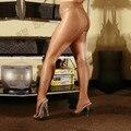 Женщины Жемчужный сексуальные чулки колготки ультра-тонкий прозрачный сексуальные гетры высокой талией