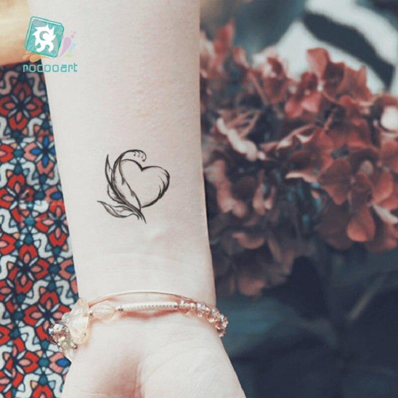 0 32 40 De Reduction 2 Feuilles Etanche Personnalite Petits Autocollants De Tatouage Frais Couleur Plumes Lettre Fleche De Mode De Tatouage