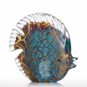 Image 4 - Tooarts Colorful Spotted Tropical Fish Glass Sculpture Fish Sculpture Modern Art Favor Gift Artwork Home Decoration