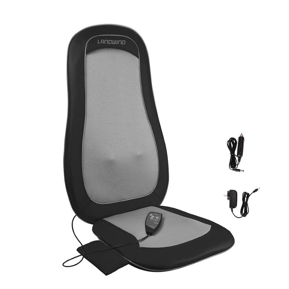 Landwind Shiatsu Siège De Voiture Retour Coussin De Massage Colonne Vertébrale Chaleur Profonde Action de Malaxage de massage électrique corps infrarouge électrique masseur