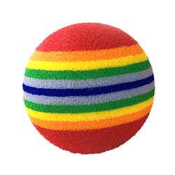 10Pcs Rainbow 3.5cm Cat Toy Ball Interactive Cat Toys Play Chewing Rattle Scratch EVA Ball Training Pet Supplies