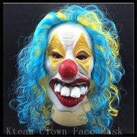 Оптовая Смешно Латекс страшный Клоун Маска Хэллоуин для antifaz партии Тушь для ресниц карнавал Уход за кожей лица маска Джокер Глава Маска Бес...