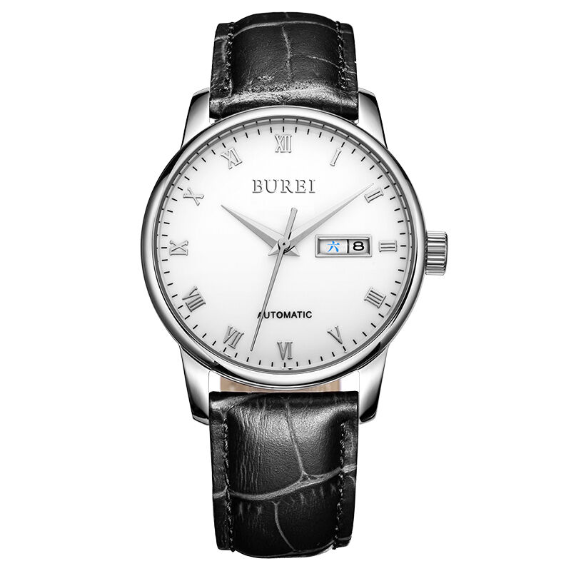 Lower Price with Mige Fashion Luxury Men Women Watch Quartz Calendar Synthetic Sapphire Glass Rhinestone Waterproof Cowhide Leather Strap Relogio Watches