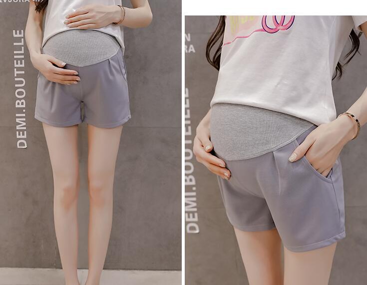 Лидер продаж, летние шорты для беременных женщин, хлопковые Лоскутные кружевные шорты с высокой талией, шорты для беременных, милые короткие штаны - Цвет: 932b