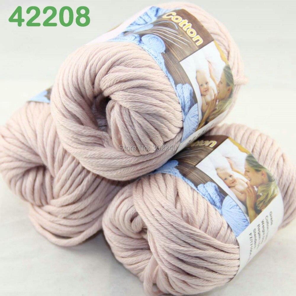 Sale 1Ball 50g Thick Worsted 100/% Cotton Hand Knitting Shawl Yarn Soft Sage