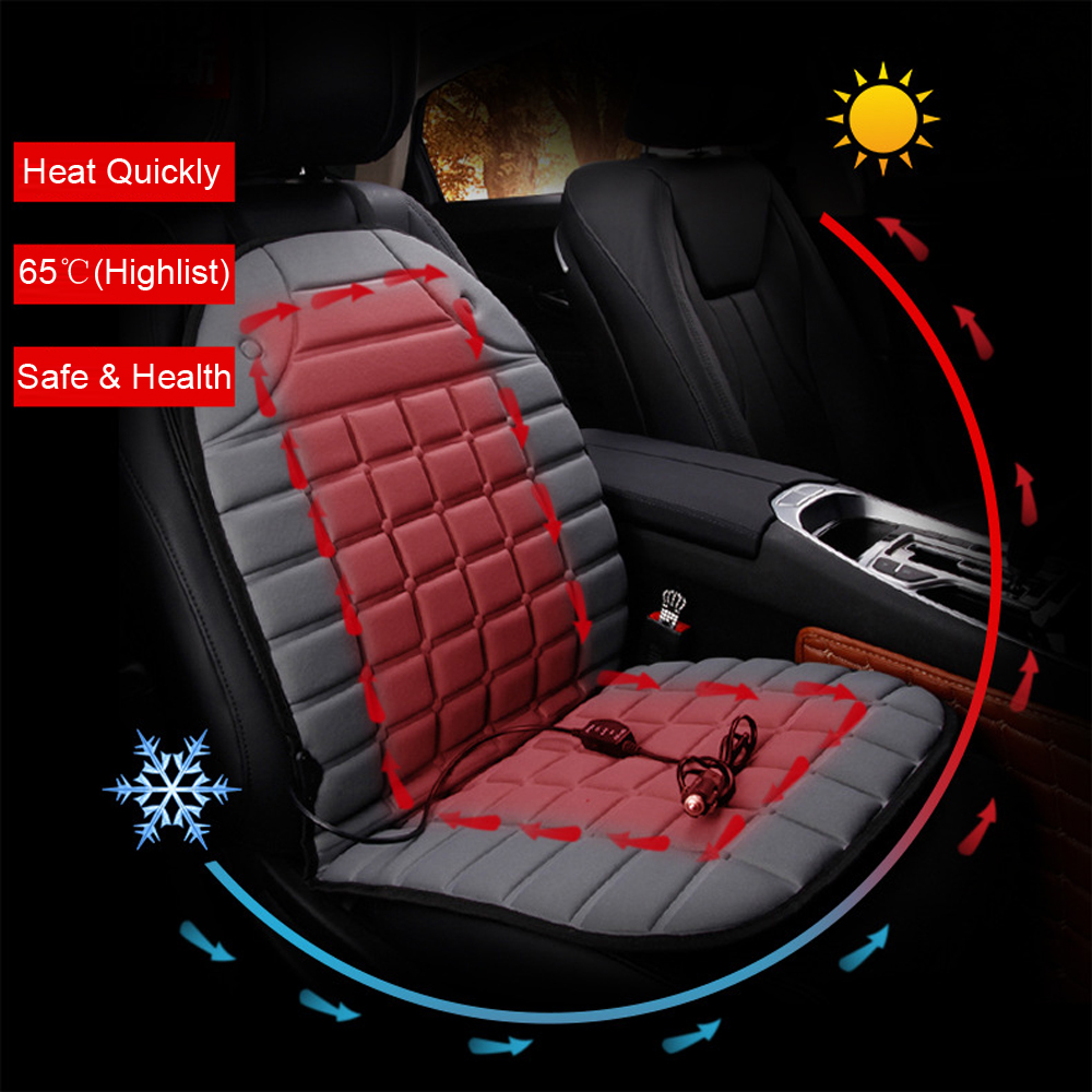 Automobiles Seat Covers Electric Heated Car Cushion Pad Heater Warmer Winter Supply Black Gray