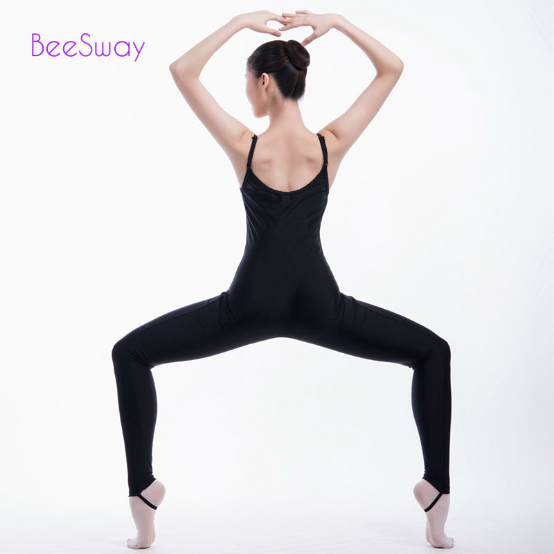 0c383ab7f2e4 gymnastics leotards for girls ballet leotard Black Ballet Dance Unitards  Ballerina Dance Costume Jumpsuit Bodysuit For Girls-in Ballet from Novelty  ...