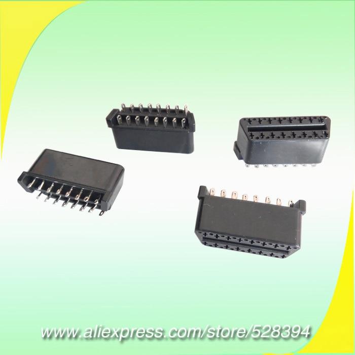 Universal DIY Car Auto Diagnostic Cable Adapter Connectors OBDII OBD-ii OBD 2 OBD2 Female Connector 16Pin Plug 1pc