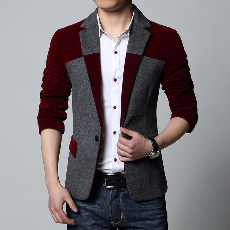 2018 Autumn new genuine male fertilizer to increase code small suit mens Blazers business and leisure spell color personality