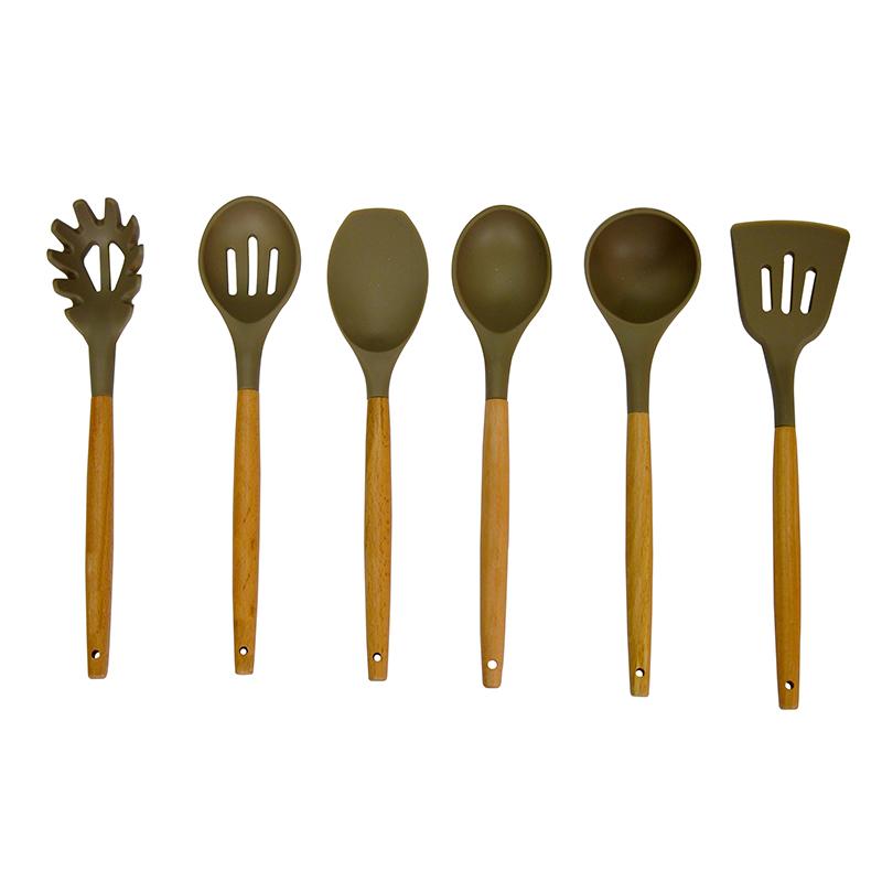 pi nuovo arrivo 12 pollice 6 pz silicone set di utensili da cucina per la cottura