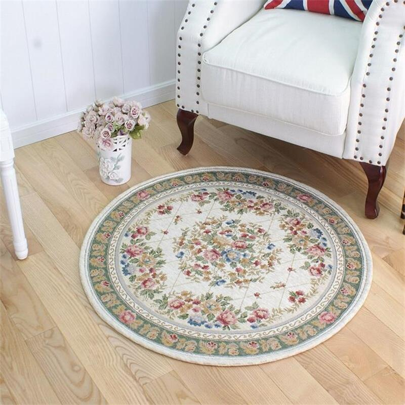 Round European Pastoral Carpets For Living Room Home Entrance