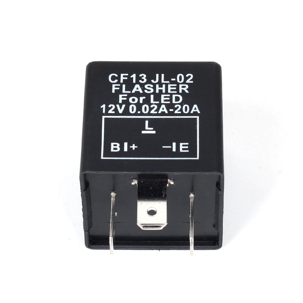 12V Electronic LED Flasher Blinker Relay 3 Pin CF13 JL-02 Automobile Turn Signal Light Flasher Commonly Shockproof
