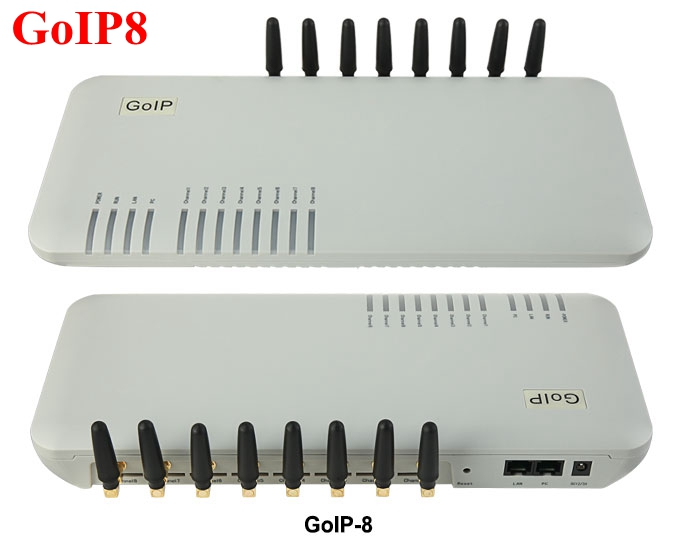 8 Chips GSM Puertos VoIP goip8, voip sip router GSM Gateway GOIP 8 para IP PBX-promoción de ventas