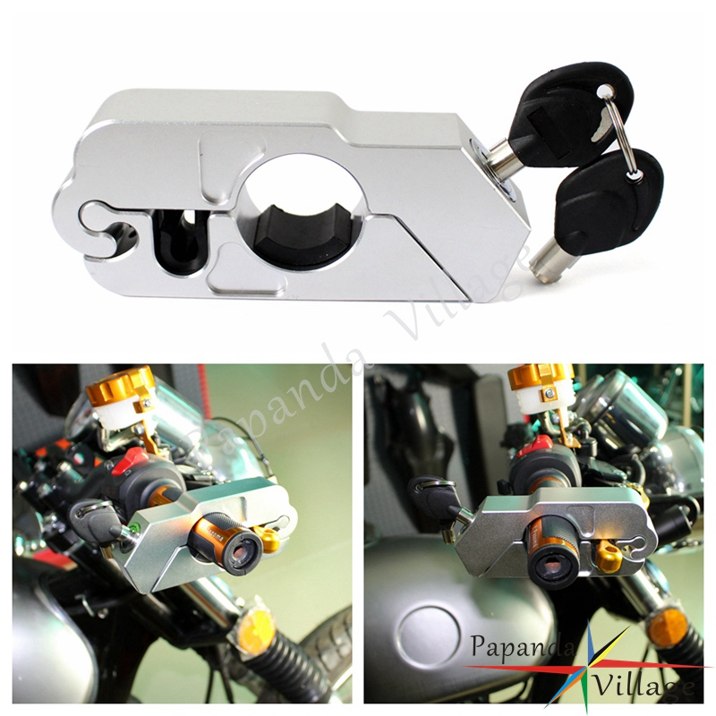 Papanda Motorcycle Titanium Brake Hand Grip Locks Dirt Bike ATV Scooter Theft Protection Security Lock For BMW Ducati Honda