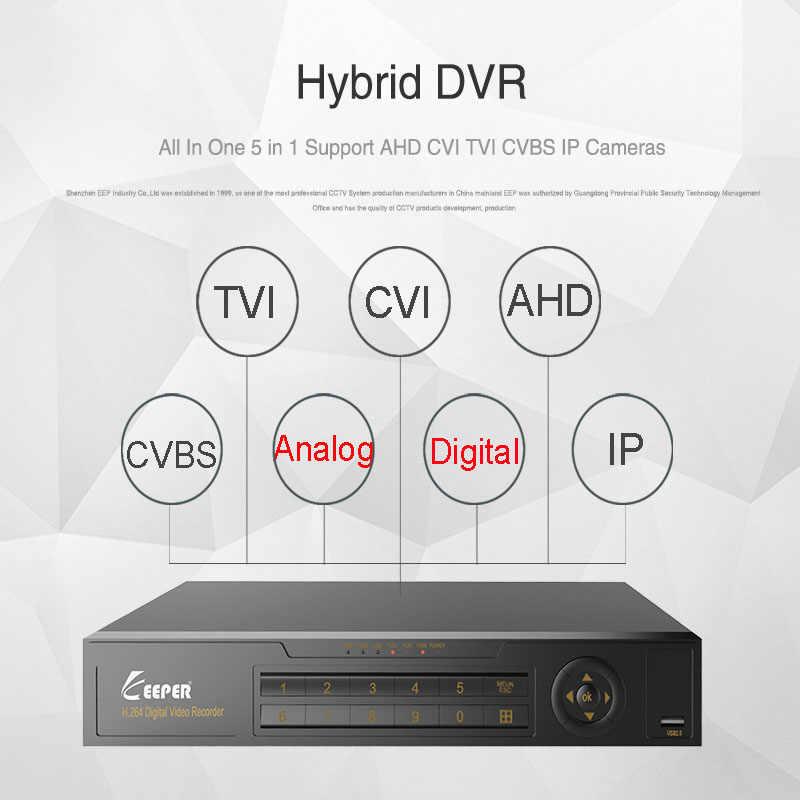 Хранитель 8 каналов 1080 P AHD Full HD 5 в 1 гибридный видеорегистратор видеонаблюдения видео рекордер поддержка TVI CVI AHD CVBS IP камера 4