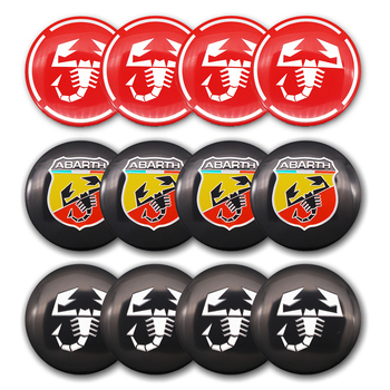 4pcs 56mm Abarth scorpion logo car emblem Wheel Center Wheel sticker Hub Cap Auto Rim badge refit decoration sticker car styling a set 4pcs car styling refit wheel sticker reflective rim car accessories for citroen c3 xr c3 xr car hub stickers yongxun