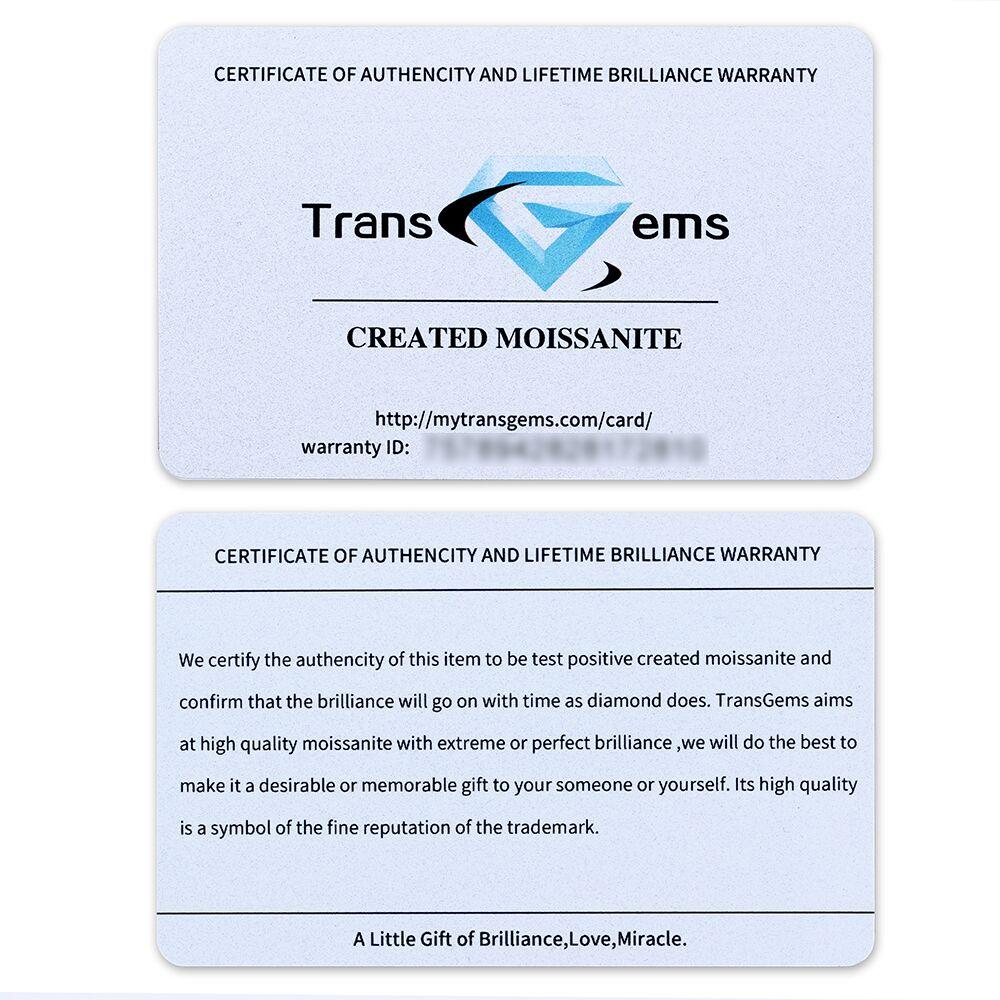 TransGems 1 Pièce Diamètre 8mm GH Incolore Ronde Coeurs et Flèches Cut Lab Grown Moissanite pour La Fabrication de Bijoux Sur 2 Carat - 5