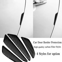4pcs Carbon Fiber Epoxy Door protection stickers Car accessories For BMW X5 X6 F10 E85 E86 E70 E71 E60 E90 E92 E93 E64 E65 F30(China)