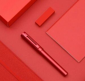 Image 5 - جديد وصول KACO معدن الألومنيوم الراقية اللوحة نافورة القلم مع صندوق حديد ، F بنك الاستثمار القومي 0.5 مللي متر حبر القلم هدية مجموعة للعمل مكتب