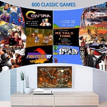 Game Console player HD HDMI/AV Output Mini TV Handheld Game Console Video with 600 Different NES games Built-in for 4K