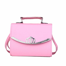 2016 Fashion Korean Women Leather Crown Day Clutch Shoulder Bag Handbags Portable Lady Tote Messenger Bags S060