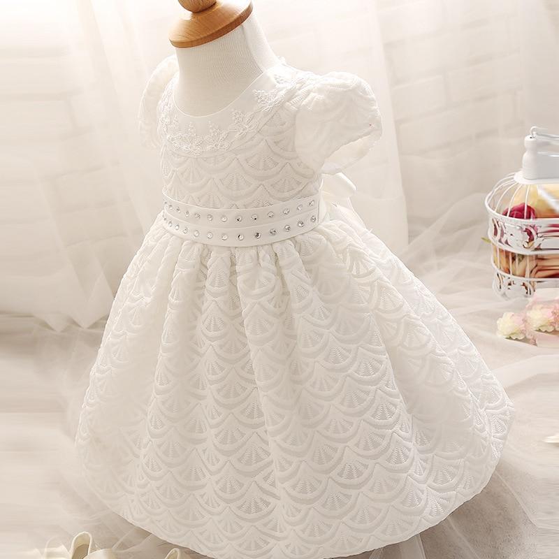 082f784fa 100 Days Newborn Baby Girls Summer Short Sleeve Cotton Christening O ...