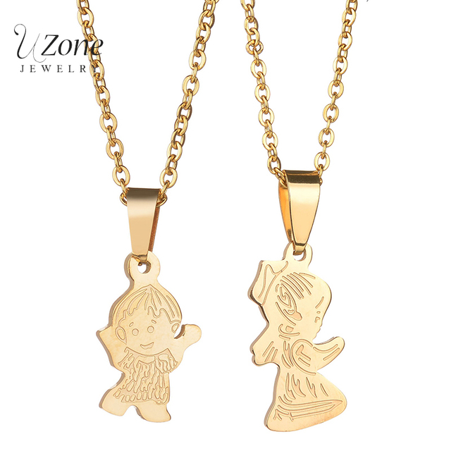 trendy cartoon children jewelry dance boy girl gold color stainless
